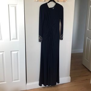 Vince Camuto Navy Blue Gown (worn once)